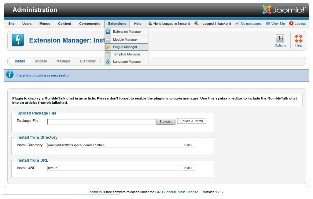In Joomla, Go to plugin manager