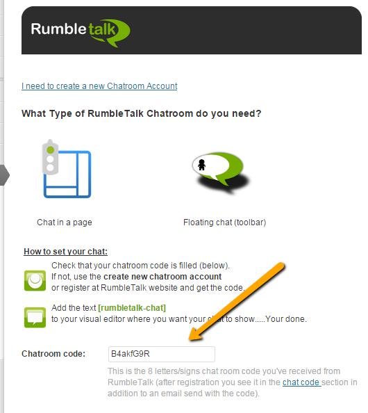 Chat Room unique code