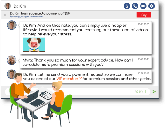 Engage your customers with RumbleTalk's Expert Chat