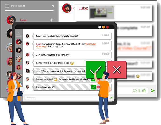 Moderated your Group Chat with RumbleTalk